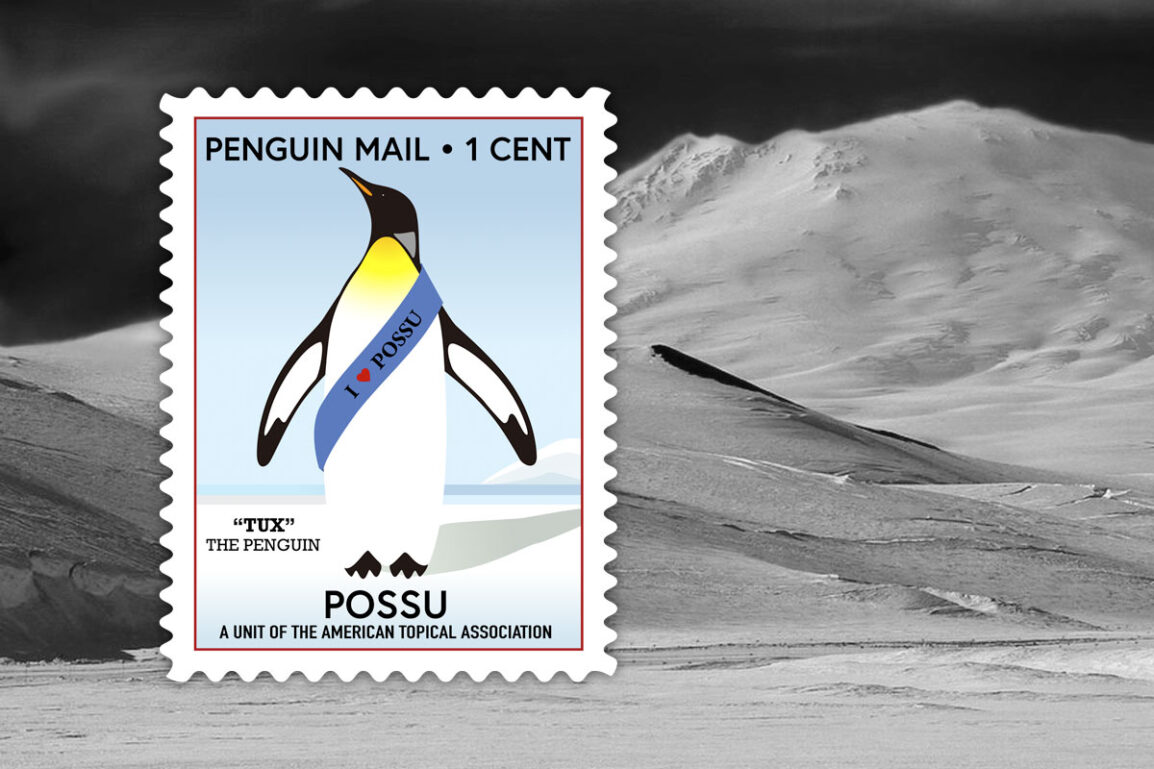 Logo design for the Penguins on Stamps Study Unit